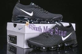 """NIKE AIR VaporMax Flyknit 2.0 2018 Women's Athletic/Running Shoes - """"Black"""" - $156.99"""