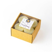 4 White Unscented Scented 100 Percent  Beeswax Votives, Votive Candles, 12 Hour - £7.06 GBP