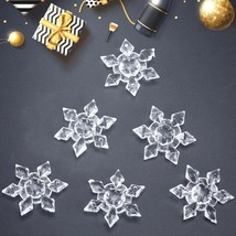 Transparent Clear Acrylic Snowflake Christmas Tree/Window Hanging Decor ... - $6.99