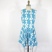 8 - DVF Diane von Furstenberg Blue & White Floral $398 JEANNIE Dress 0000MB - $55.00