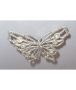 Butterfly ~*~ Vintage 1960's Silver Tone Butterfly Shaped Pin with Rhine... - $5.00