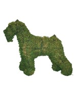"""Schnauzer 24"""" Topiary Sculpture - Wire Frame, Moss Filled or Lighted - $99.99+"""