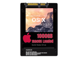 macOS Mac OS X 10.10 Yosemite Preloaded on 1000GB Solid State Drive - $199.99