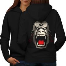 Angry Monkey Sweatshirt Hoody Gorilla Beast Women Hoodie Back - $21.99+