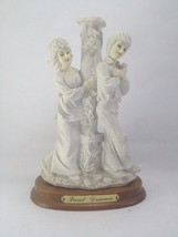 Collectable Decorative Stone Statue Sculpture Man and Woman White - $27.70