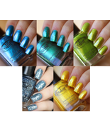 Color Club TAKE WING Duochrome Nail Polish 5 COLORS Yellow Glitter Blue ... - $18.79
