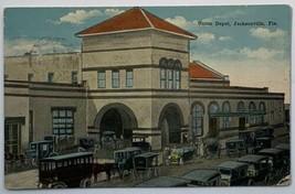 Old Divided Back Postcard Union Depot, Jacksonville, Florida - $19.55