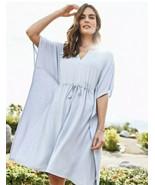 Tommy Bahama Island Soft Sea Coast Caftan Dress Sky Mist Blue Size S/M -... - £33.43 GBP
