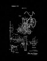 Retractable Bicycle Training Wheels Patent Print - Black Matte - $7.95+