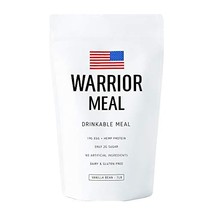 Warrior Meal - All Natural Protein Shake & Meal Replacement, Vanilla Bean, 10 Me - $52.13