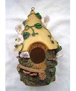 Resin Knot Hole Birdhouse with Morning Glories - $18.99