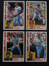 1984 Topps Traded Philadelphia Phillies Team Set of 4 Baseball Cards Missing 105 - $3.00
