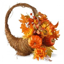 Fall Thanksgiving Decorations Table Centerpiece Cornucopia Pumpkin Autum... - $79.99