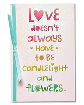 American Greetings Perfect Romantic Card with Ribbon,Colorful Embossed L... - $6.77