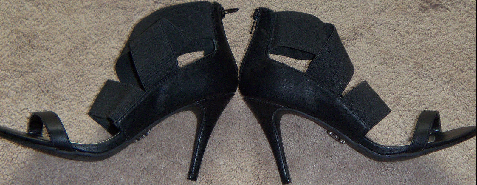 Primary image for New Womens Simply Vera Vera Wang Brianne Black Stiletto Heels Size 7.5 Back Zip