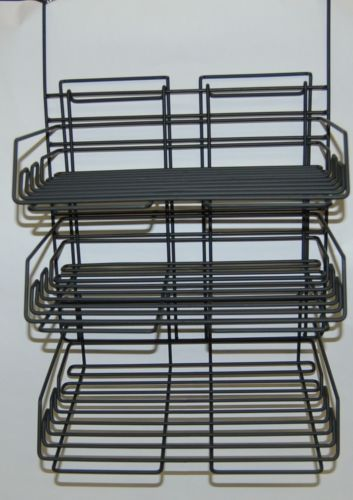 Safco 4150CH Panel Mate Triple Tray Charcoal Steel Construction