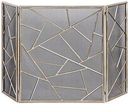 Uttermost 20072 Armino Modern Fireplace Screen, Silver - $213.40
