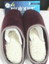 Women Isotoner Brown Memory Foam Slippers XL 9.5-10 Henna NEW - $19.79