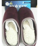 Women Isotoner Brown Memory Foam Slippers XL 9.5-10 Henna NEW - $19.79