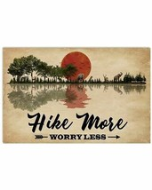 Hike More Worry Less Poster, For Decor, Forest Poster For Adventure People - $25.59+