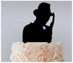 Wedding,Birthday Cake topper,Cupcake topper,silhouette friedy cruger : 11 pcs - $20.00