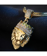BlingWorld Fashion Man Personality Full Iced Out Rhinestone Lion Tag Cub... - $12.44