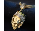 Nality full iced out rhinestone lion tag cuban chain pendant necklace delicate 333 thumb155 crop