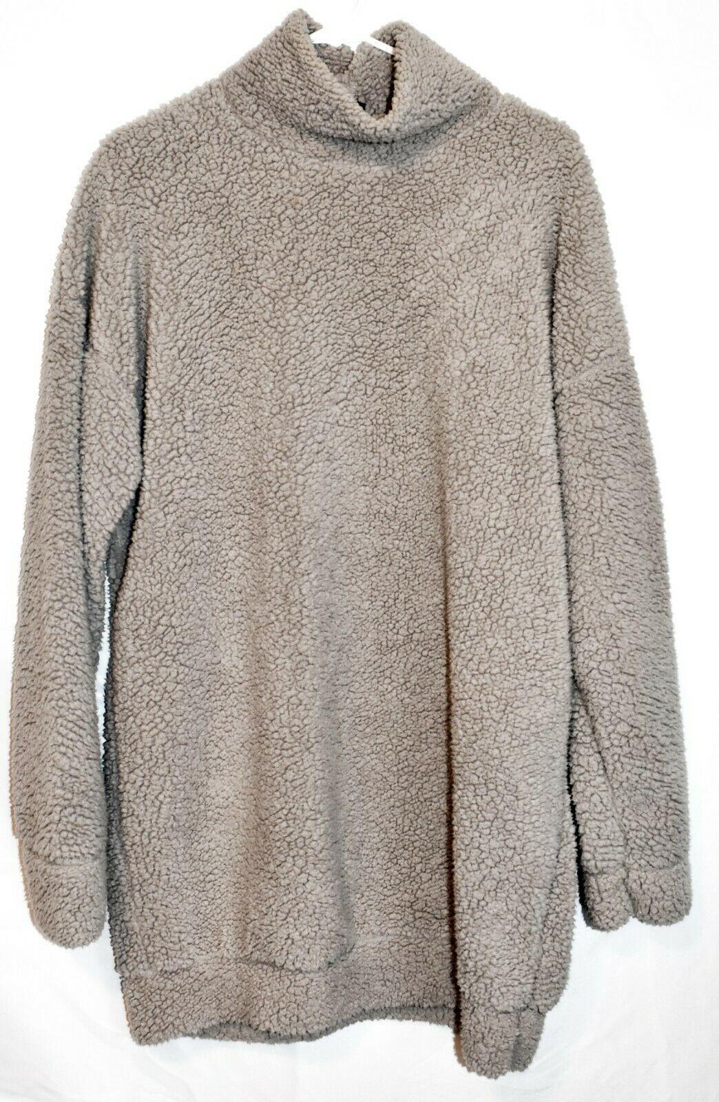 Missguided Women's Grey Oversized Fleece Sweater Dress US 4   UK 8   EUR 36