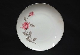 "Vintage Rosemarie by Noritake Fine China 8"" Salad Plate White Pink Roses Japan - $14.84"