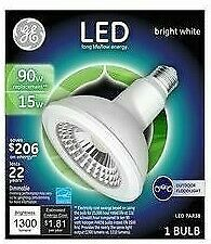 GE outdoor floodlight PAR38 medium base LED Bulb Bright White 90 Watt rep / 15W
