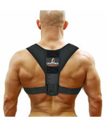 Leather Opening Body Brace Back Alignment Adjustable Posture Corrector S... - $14.69