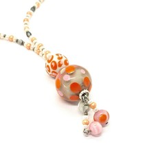 NECKLACE ANTICA MURRINA VENEZIA WITH MURANO GLASS ORANGE AND BEIGE CO964A25 image 2