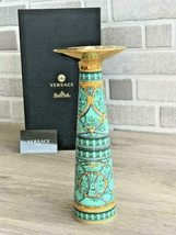 Versace by Rosenthal Vase/Candleholder La Scala Del Palazzo Green 25cm/1... - $225.00