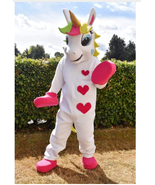 RENT Unicorn Adult Mascot Costume Character Halloween Party Birthdays Ev... - $79.19