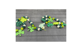 AGD St Patricks Decor - Felt Balls and Shamrock Garland 5ft AGD#2105-284 - $19.95