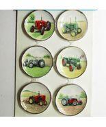 DOLLHOUSE 6 Sm. Plates w Antique Farm Tractors CDD356 By Barb Wall Art M... - $30.97