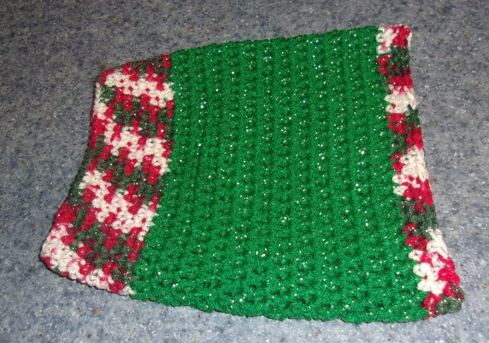 Brand New Hand Crocheted Glitter Red Green White Dog Snood Neck Warmer 4 Charity