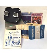 View Master 1940s Stereoscope Bakelite Aluminum Lever 18 Reels View-Mast... - $67.31