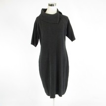 Charcoal gray ELLEN TRACY stretch 1/2 sleeve sweater dress XL - $22.49