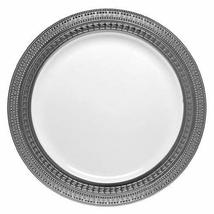 "Symphony White with Silver Rim 7"" Heavyweight Plastic Dessert Salad Plat... - $16.95"