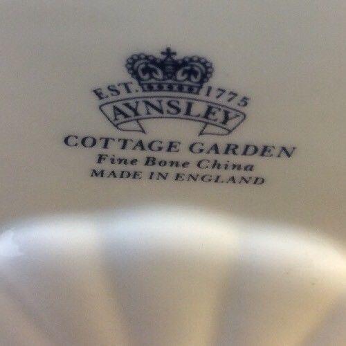 Aynsley English Fine Bone China Photo Frame Cottage Garden Gold Trim