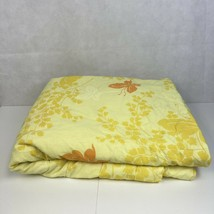 VTG Twin Full Comforter Mariposa Springmaid Floral Yellow Butterfly Beds... - $148.49