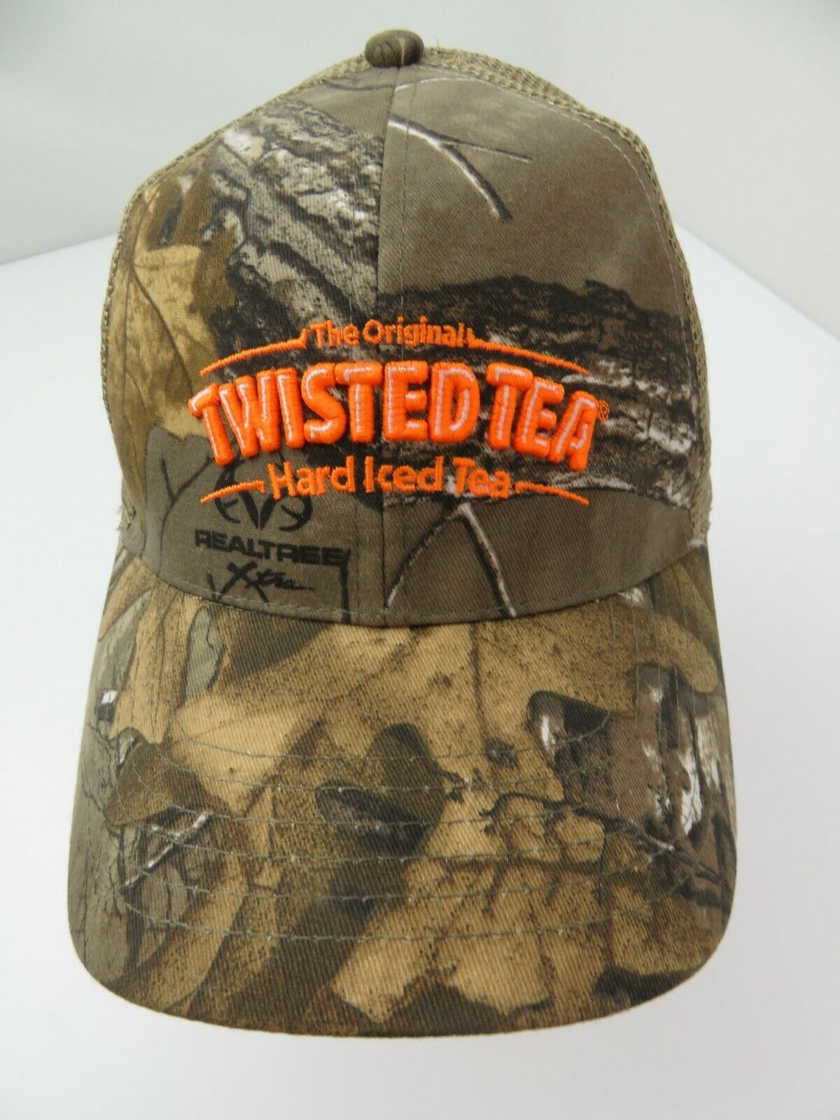 Primary image for Twisted Tea Hard Iced Tea Realtree Camouflage Snapback Adult Cap Hat