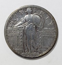 1917S Type 1 STANDING LIBERTY QUARTER COIN Lot # 818-14