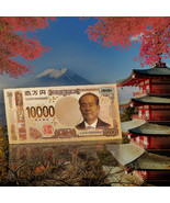WR 10000 Yen Japan Brandnew Colorful Banknotes Gold Foil Paper Money - $3.99