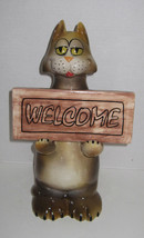 Ceramic Cat with a Welcome Cat 16 inches  High - $29.99