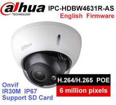 Dahua 6MP IP Camera IK10 IP67 IR30M built-in SD card Audio IPC-HDBW4631R-AS - $89.50