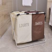 Oxford Cloth Folding Double Lattice Dirty Clothes Storage Laundry Basket - $38.50