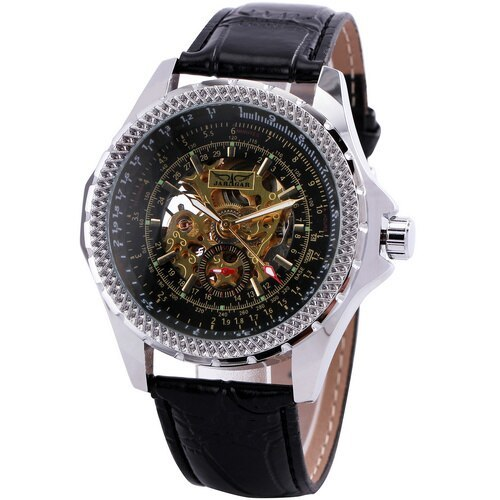 Primary image for Top Brand Luxury Men Automatic Mechanical Wrist Watches WINNER Brand Golden Skel