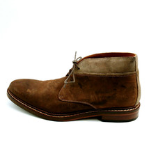 Cole Haan Mens Lace Up Ankle Casual Shoe Brown Leather Cushioned Insole ... - $32.86